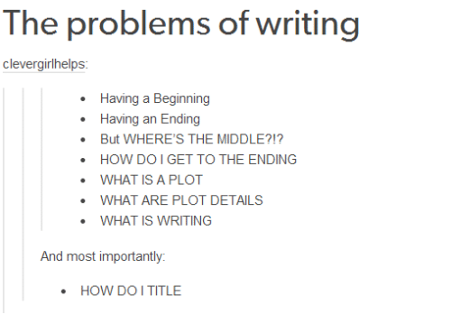 the problems of writing explanation